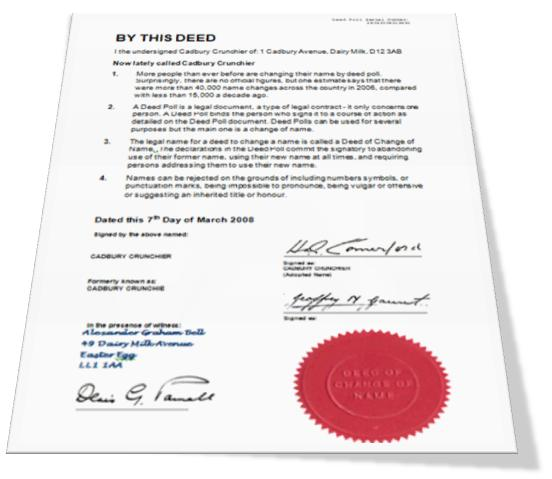 Certified Copy of Property Deed